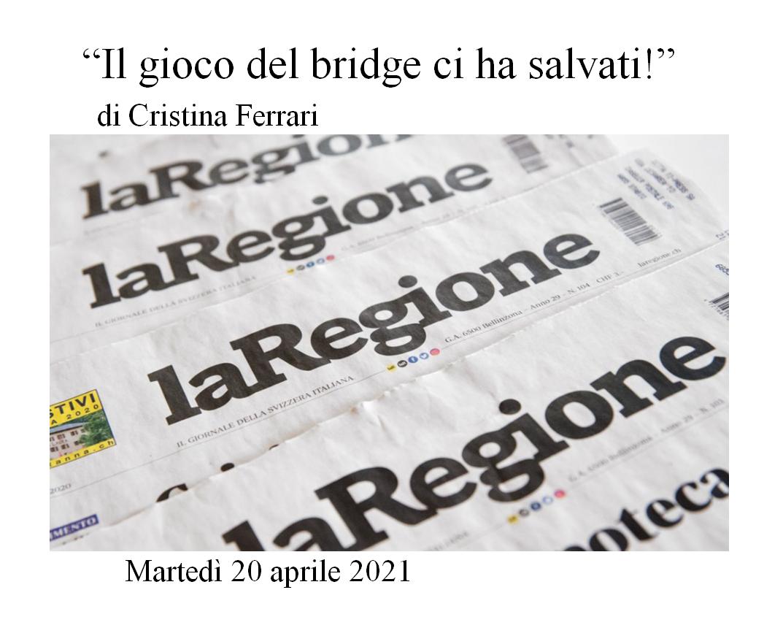 Un articolo di Cristina Ferrari